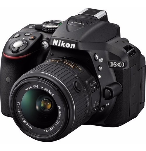 Câmera Digital Nikon Dslr D5300 18-55mm 24.2mp 12x S/juros