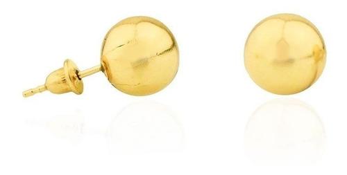Imagem 1 de 6 de Brinco Bola / Bolinha 9mm Em Ouro 18k 750 Com Garantia