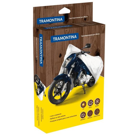 Capa Impermeável Para Moto Tamanho G 43782003 Tramontina