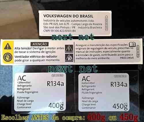 Etiqueta Kit 03 Frente Motor Saveiro Gol G4 Fox Parati -9j