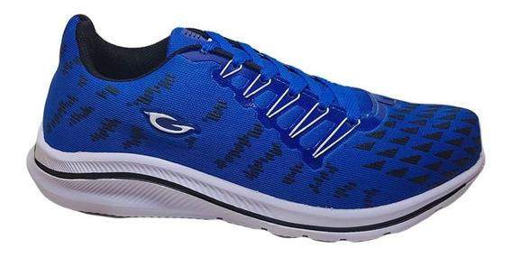 Zapatillas Gaelle Depor Cordonera Hombre Azul Negro N° 38/44