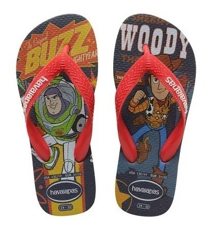 Chinelo Havaianas Woody E Buzz Lightyear Toy Story 4