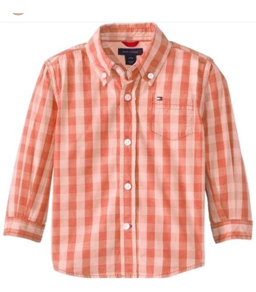 Camisa Manga Larga Tommy Hilfiger Talla 12 Meses