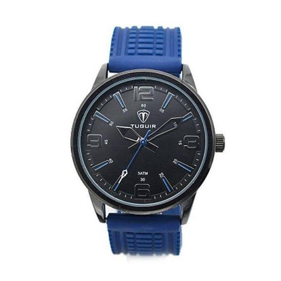 Relógio Masculino Tuguir 5054 Azul C/ Garantia E Nf