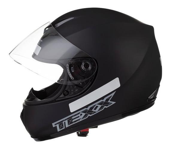 Capacete Motociclista Texx Like Viseira 2mm Preto Fosco