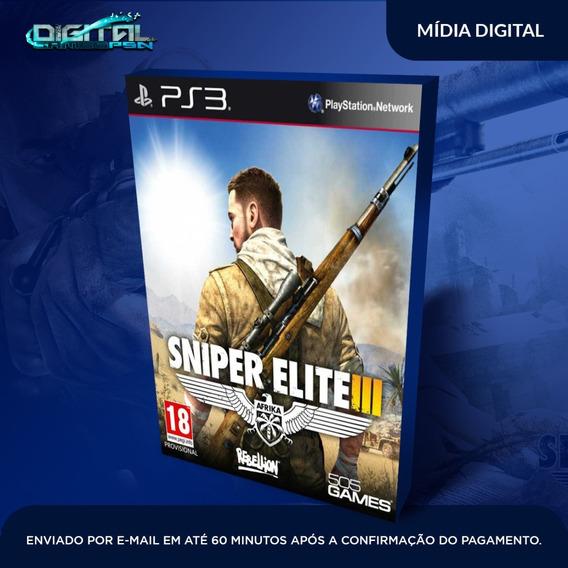 Sniper Elite Iii Ps3 Psn Midia Digital Em 10 Min! Original