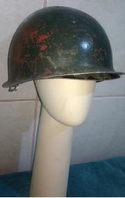 Capacete Militar Ferro Da Guerrra Década 50 Completo Antigo