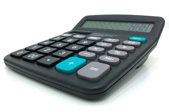10 Calculadora De Mesa Comercial 12 Digitos 12x14 Cm