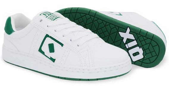 Tênis Qix Combat Retrô Branco Verde Original Envio Imediato