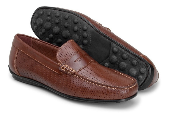 Promocao Sapato Casual Mocassim Em Couro Dockside Masculino