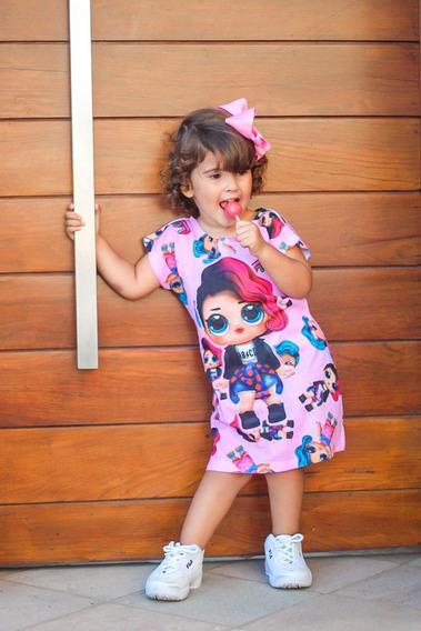 Vestido Personagens Infantil Kit C/ 10 Vestido