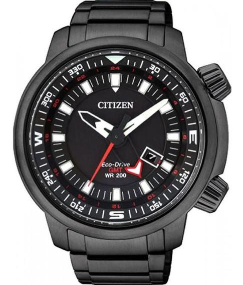 Relógio Citizen Masculino Tz30759p Eco-drive Solar Black