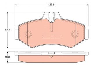 Pastillas Freno Trasero - Mb Sprinter Cdi 312 - 413 (bosch)