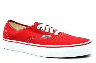 Vans Authentic Rojo Vn0ee3red Remate De Bodega Únicos Pares
