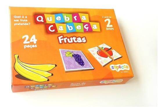Jogo Educativo Quebra-cabeça Frutas 24 Peças