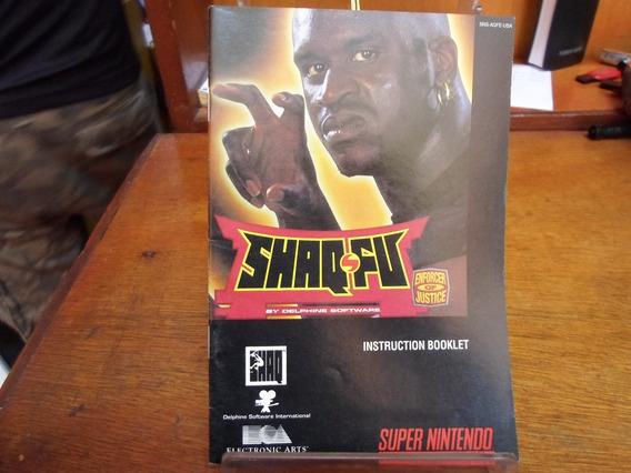 Manual Original Shaq Fu - Snes
