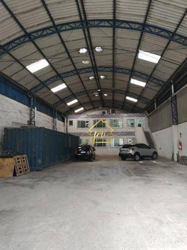 Imagem 1 de 23 de Galpão Para Alugar, 550 M² Por R$ 12.000,00/mês - Vila Matias - Santos/sp - Ga0054