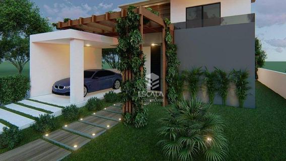 ` Casa Com 4 Quartos À Venda, 145 M², Jardins Das Dunas, Financia - Mangabeira - Eusébio/ce - Ca0284