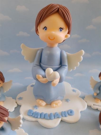 Adorno De Torta Porcelana Fría Bautismo Cumpleaños Infantil