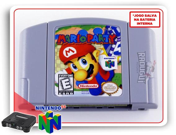 Mario Party Nintendo 64 N64 Americano Novo Salvando