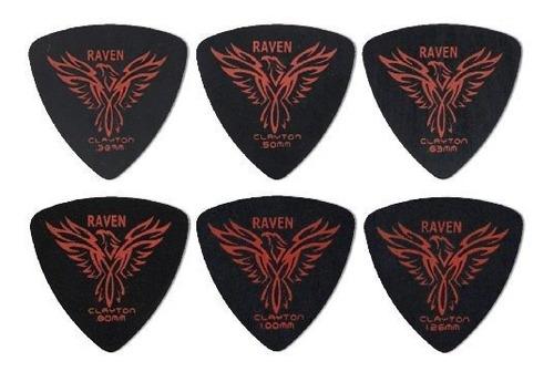 Puas De Guitarra Clayton Black Raven (seleccione De Calibre