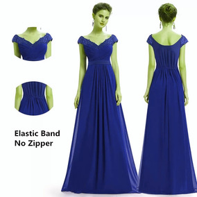 6677d73b54 Vestido Fiesta Azul Rey - Vestidos de Mujer en Mercado Libre Chile