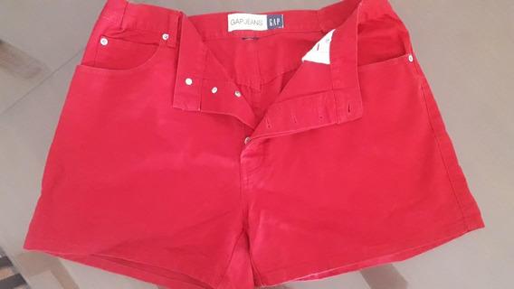 Short Mujer Xlarge Gap Rojo Original Imp-usa