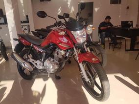 Honda Cg 160 Fan Esdi 2017 Vermelha 3500 Km