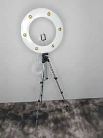 Ring Light Branco 6 + Sup Celular + Tripé Profis+lâmpadas