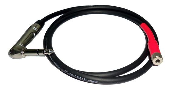 Cable O.f.c. Plug Estereo 90º A Miniplug Estereo Hembra