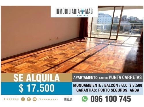 Imagen 1 de 10 de Apartamento Alquiler Punta Carretas Montevideo Imas.uy F *