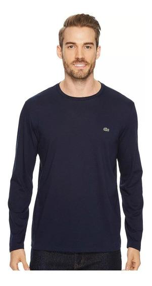 Lacoste Camiseta Tamanho M Masculina Manga Longa