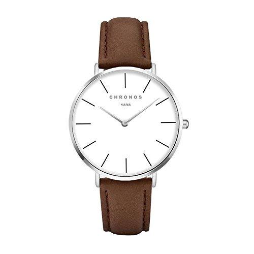 Hombre Mujer Reloj Cuarzo Reloj Cuero Pu Unis Chronos