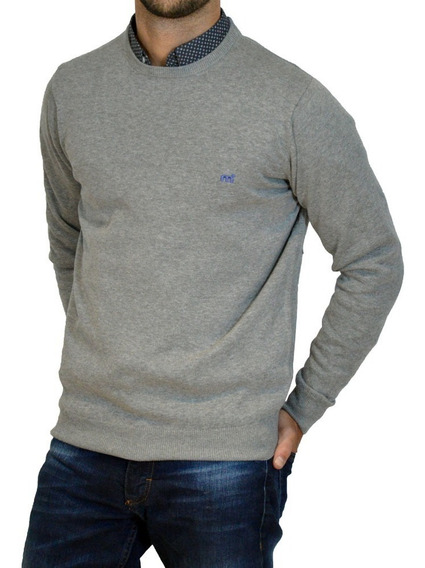 Sweater Pullover Cuello Redondo Hombre Mistral Moda Algodón