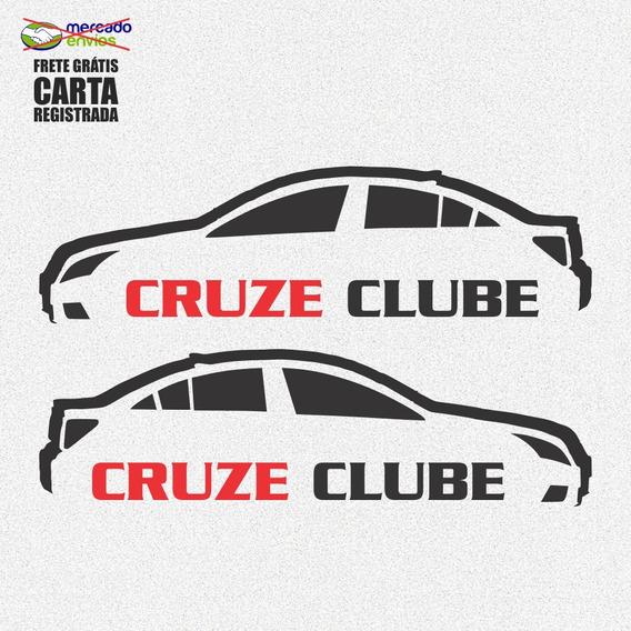 Kit 3x Adesivo Clube Do Cruze Carro Personalizado 15cm A196