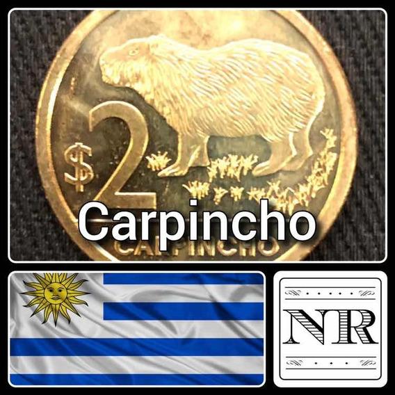 Uruguay - 2 Pesos - Año 2011 - Km # 136 - Carpincho