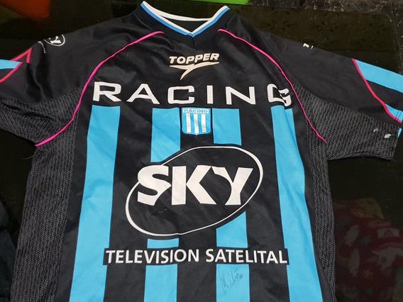 Camiseta Racing Campeón 2001 Firmada Por Diego Milito