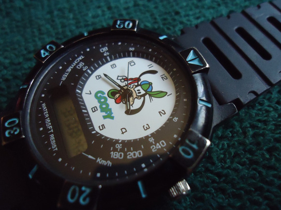 Goofy Disney Time Works Reloj Vintage Retro Ana-digi