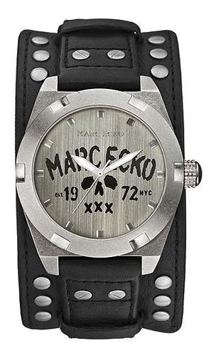 Relógio Marc Ecko The Rock Pulseira Caveira Couro Bracelete