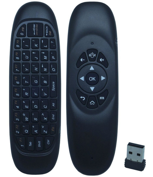 Controle Mini Teclado Air Mouse Wireless Sem Fio Android Pc