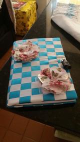 Caderno Customizado, Azul/branco, Com 96 Folhas.