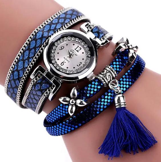 Relógio Duoya Quartzo Feminino Casual Serpentina