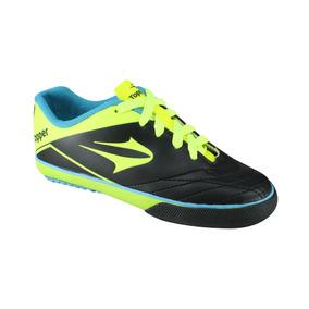 Tenis Futsal Inf/juv. Topper Frontier Vll Preto / Verde Neon