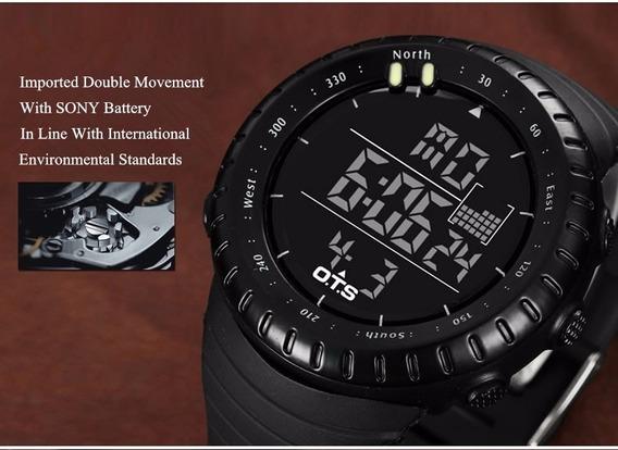 Relógio Militar Masculino/feminino Preto Em Promoção
