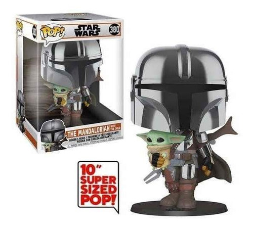 Funko Pop Mandalorian The Child Baby Yoda Gigante Star Wars
