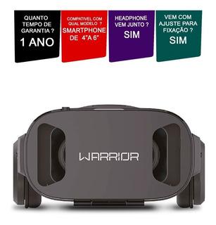 Óculos Com Headphone Para Celular Vr Multilaser