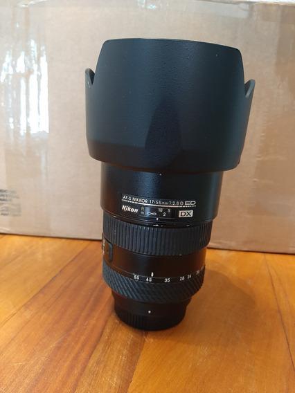 Lente Nikon 17x55 Mm Dx 2.8 G Com Filtro De Otima Qualidade.