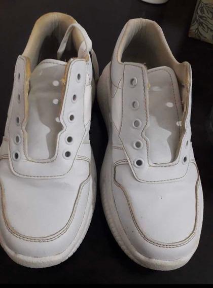Zapatillas Moda Blanca Mujer 38