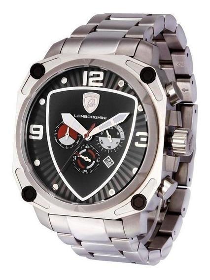 Relógio Lamborghini Lb90015663m Masculino Prata