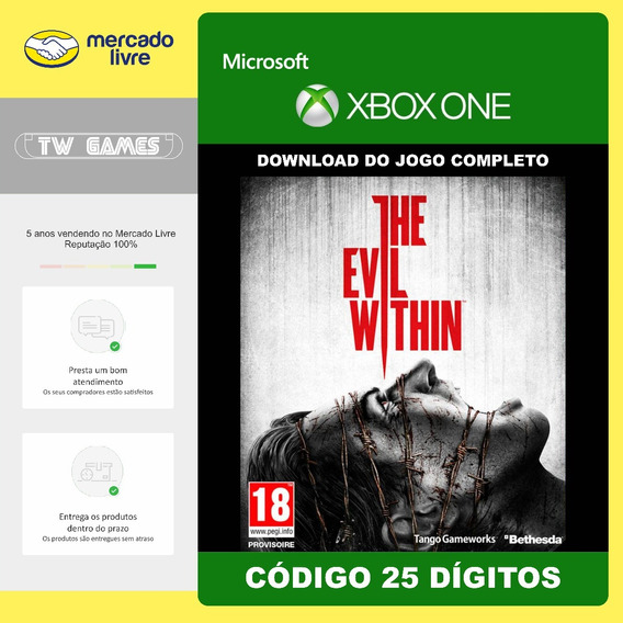 The Evil Within Codigo 25 Digitos Original Xbox One